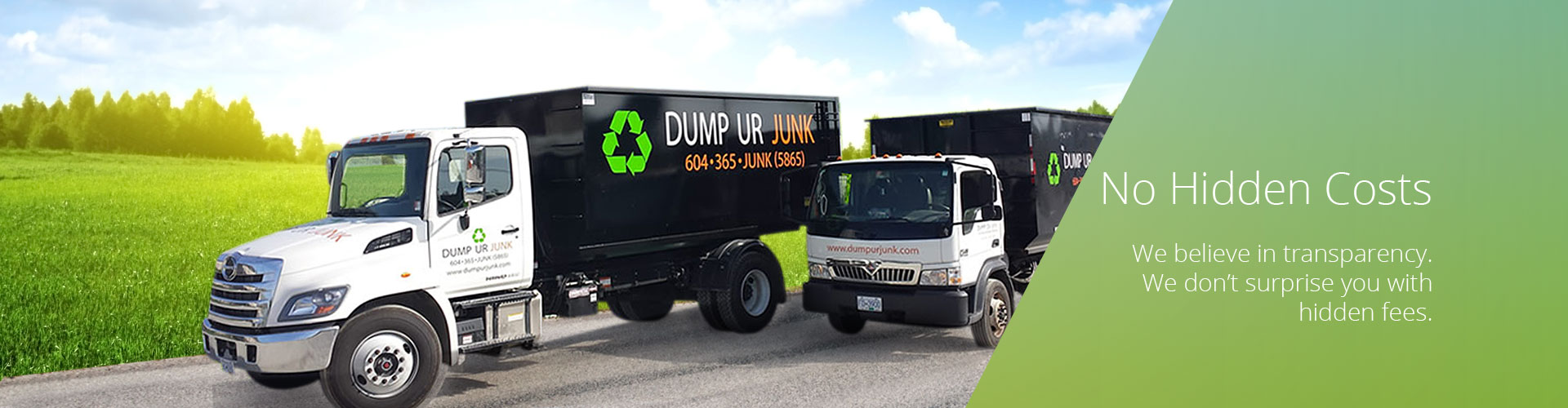 Dump Ur Junk - No Hidden Costs
